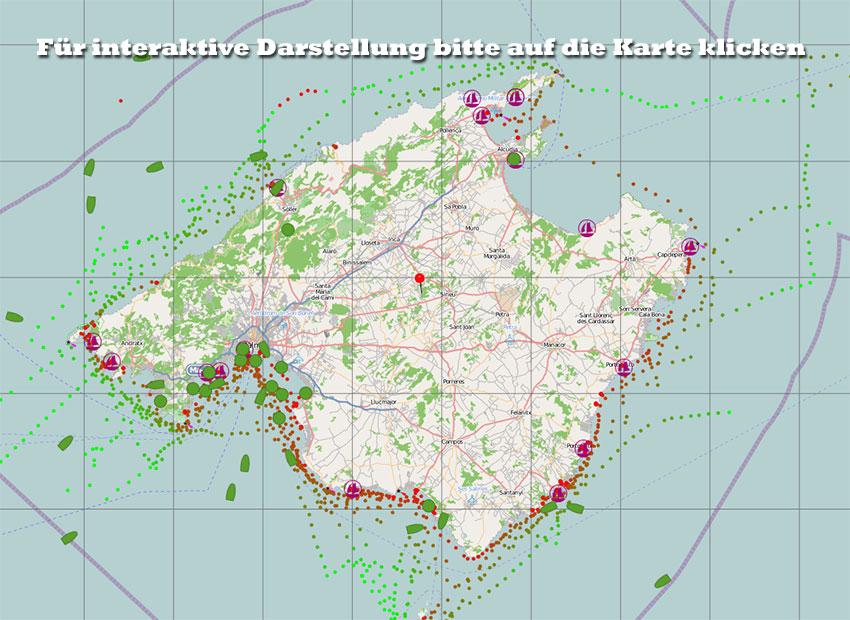 Ibiza Karte Ausdrucken.Offshore Mallorca Landkarte Seekarte Balearen Mallorca Menorca