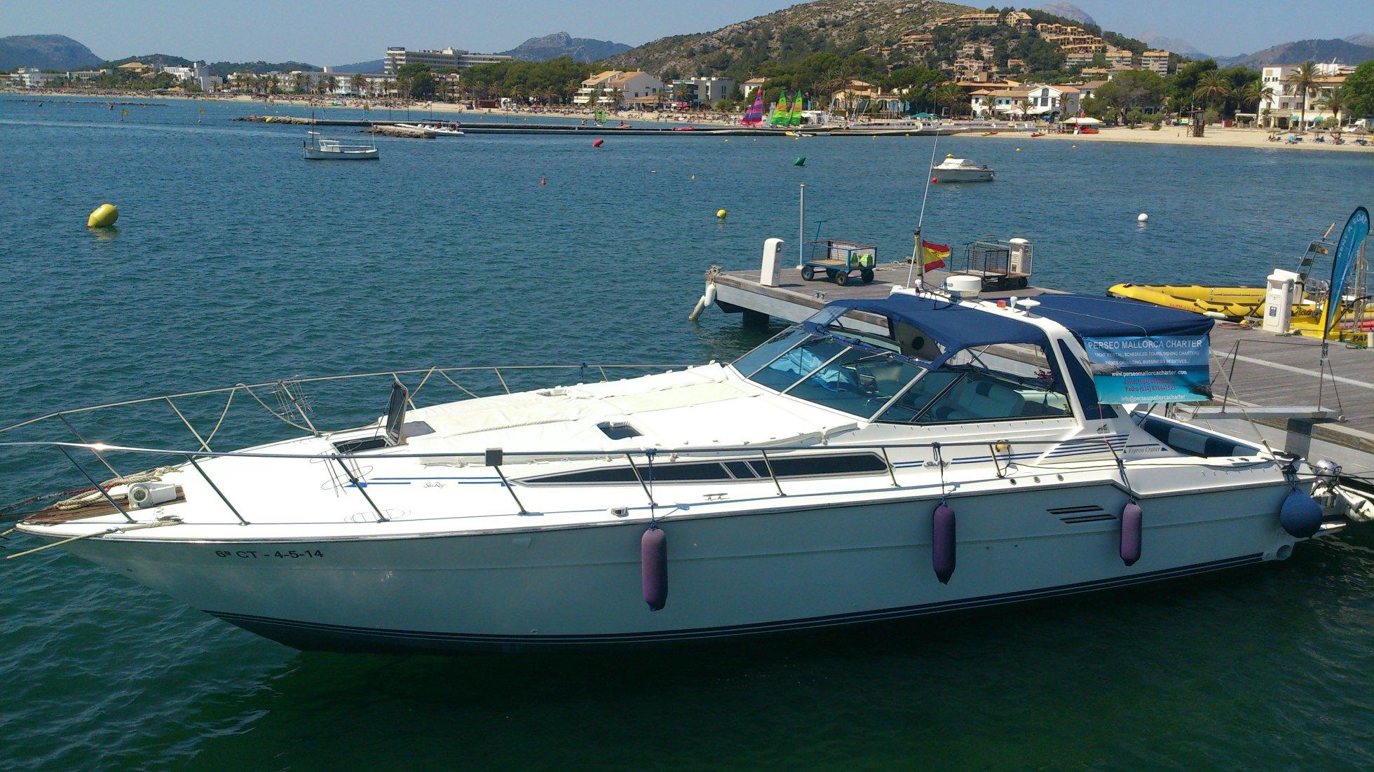 offshore mallorca sea ray 460 15m motoryacht 9 personen. Black Bedroom Furniture Sets. Home Design Ideas