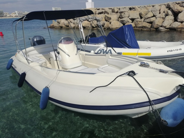 Rib boat Alson 750 Flash 250hp up to 12 people for rent in Palma